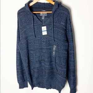 American Rag Hoodie Blue Knitted NWT Size XL
